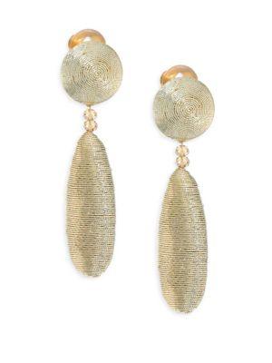 Oval Silk Drop Earrings