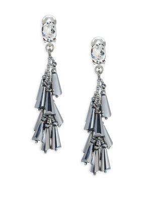 Multi-Cone Crystal Clip-On Earrings