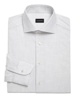 Micro Windowpane Dress Shirt