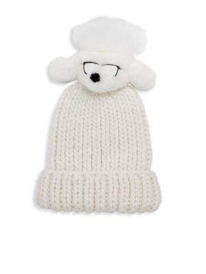Rain Fur Dog Pom Ribbed Hat