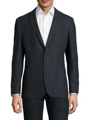 Two-Buttoned Wool Blazer