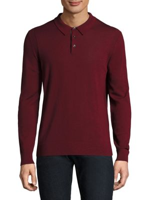Basic Buttoned Wool Polo
