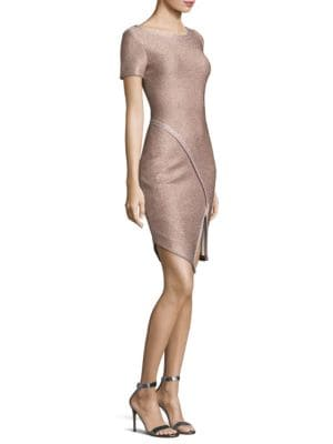 Frosted Metallic Sheath Dress