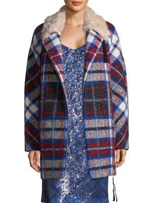 Tartan Plaid Shearling Jacket
