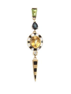 HOLLY DYMENT Single Gemstone Dagger Earring