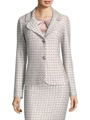 Sequin Scallop Knit Jacket