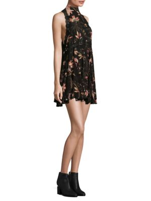 Printed She Mooves Mini Dress