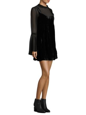 Counting Stars Bell Sleeve Dress
