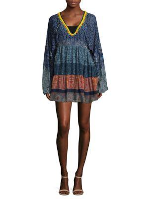 Tiered Silk Tunic Dress