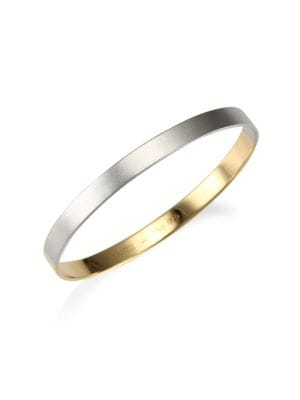 18K Gold and Silver Bangle