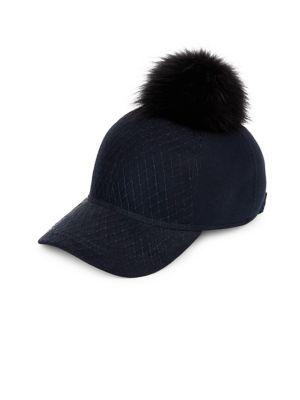 For Fur Pom-Pom Baseball Cap