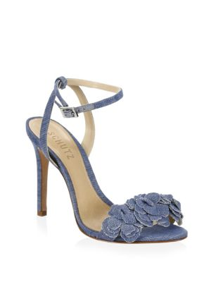 Aida Cotton Ankle-Strap Sandals