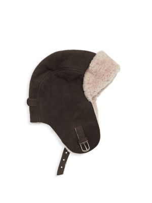 CROWN CAP Shearling Aviator Hat