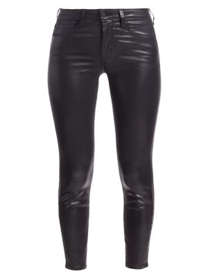 Margot Skinny High-Rise Ankle Skinny Coated Jeans