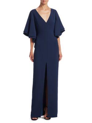 Flounce Bell Sleeve Gown