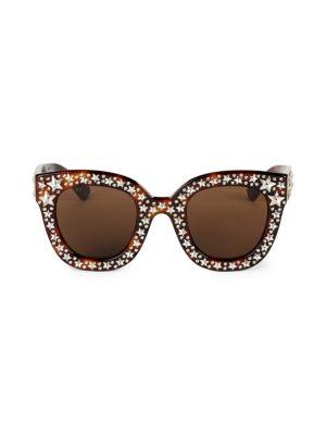 49MM Star-Studded Sunglasses