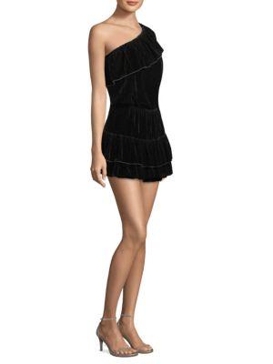Kolda B One Shoulder Velvet Dress