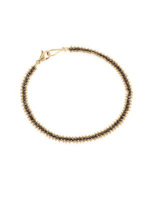 AMALI Black Diamond & 18K Gold Bracelet