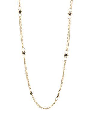 AMALI Black diamond & 18K Yellow Gold Necklace