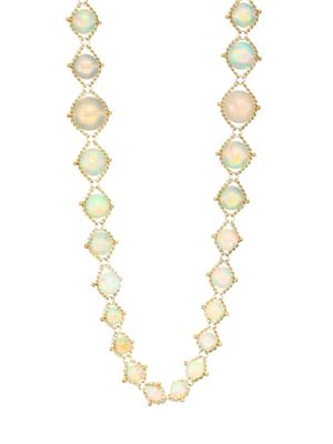 Opal & 18K Yellow Gold Chain Necklace