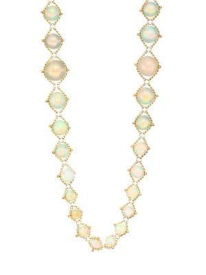 AMALI Opal & 18K Yellow Gold Chain Necklace