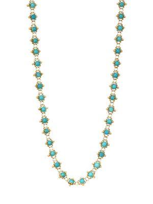 AMALI Turquoise & 18K Gold Chain Necklace