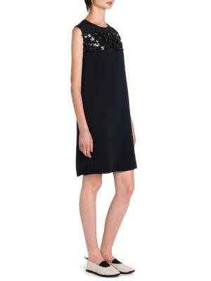 Sequin Stripe Shift Dress