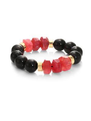 Horn & Agate Stretch Bracelet