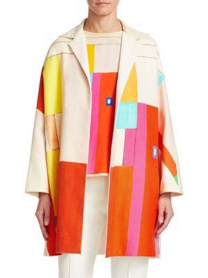 Mural Reversible Silk & Cotton Coat