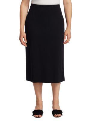 Wool Midi Pencil Skirt