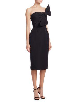 Strapless Bow Silk Dress