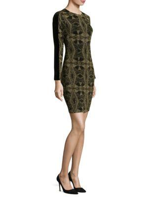 Geometric Metallic Dress