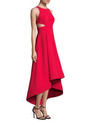Crepe Hi-Lo Gown