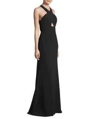 Cutout Halterneck Gown