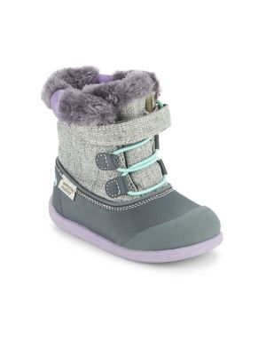 Baby's & Toddler's Faux Fur Collar Waterproof Boots