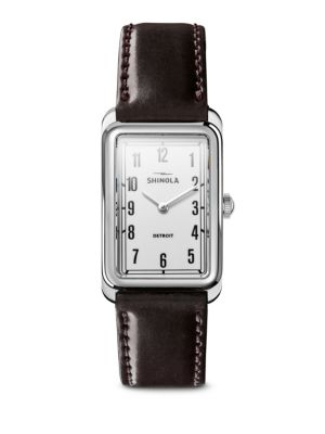 The Muldowney Stainless Steel & Leather Strap Watch