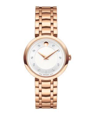 1881 Diamond & Rose Goldtone Stainless Steel Bracelet Watch