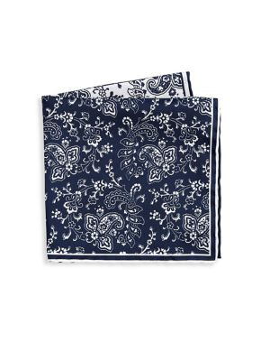 COLLECTION Two Tone Paisley Pocket Square