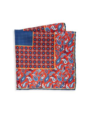 COLLECTION Silk Paisley Pocket Square