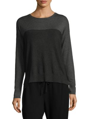 Long Sleeve Box Top by Eileen Fisher
