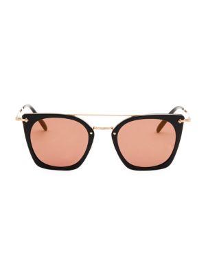 Dacette 50MM Mirrored Square Sunglasses