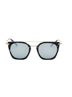 Dacette 50MM Mirrored Square Sunglasses