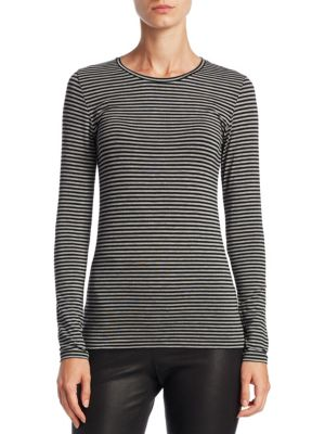 Soft Touch Striped Crewneck Top