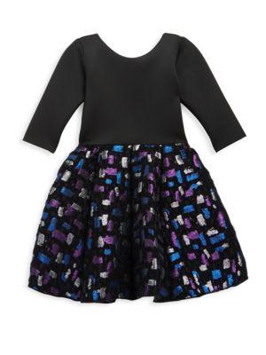 Girl's Confetti Metallic Brocade Dress
