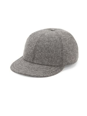 Wool Herringbone Baseball Cap