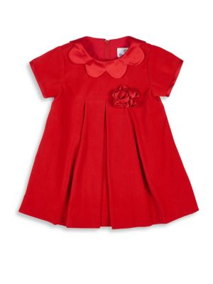 Baby's Scallop Collar Velvet Dress