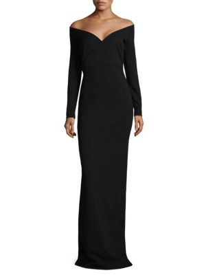 Victorie Off-The-Shoulder Gown