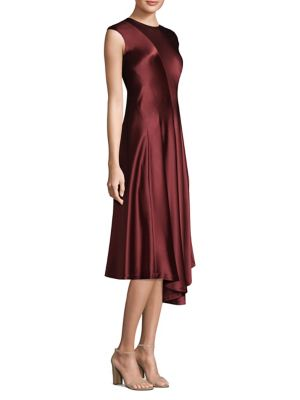 Aveena Silk Knee-Length Dress