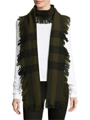 Half Mega Fringe Military Wool Scarf