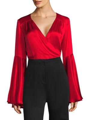 Silk Bell Sleeve Bodysuit
